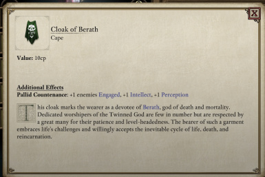 Enchanted cloak of Berath