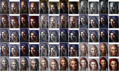 New male elf portraits by a fellow gamer