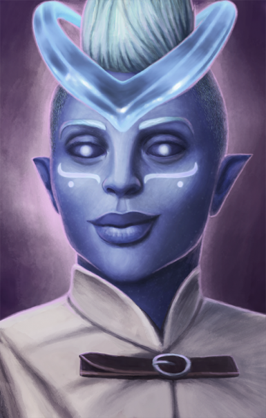 Female Moon Godlike Portrait