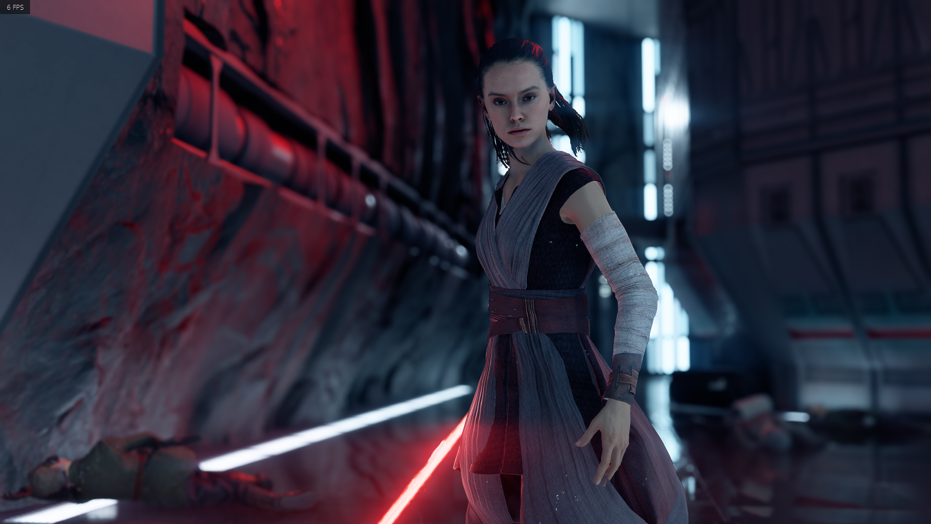 Tlj Rey With Kylo S Saber At Star Wars Battlefront Ii 2017 Nexus Mods And Community