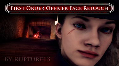 First Order Officer Face Retouch