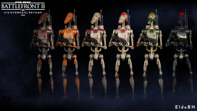 Heavy Droids: Movie, TCW, Security, Citadel, AAT, Fire fighter