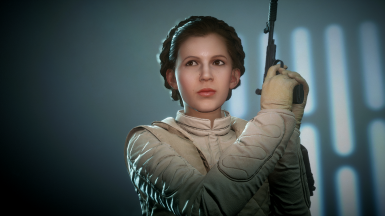 Leia Organa Face Touch up