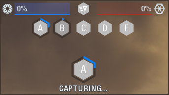 Hexagon Capture Progress and Clean Game Mode Bar