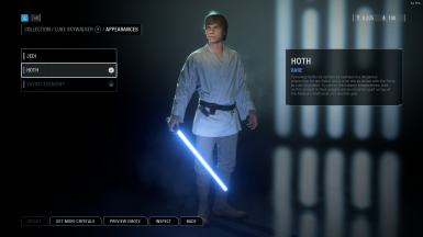 Luke Farmboy replacing Hoth skin