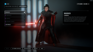 Kylo Unmasked as default skin