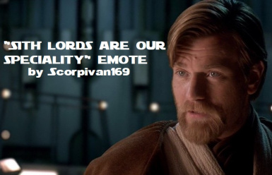 Sith lord are our speciality emote