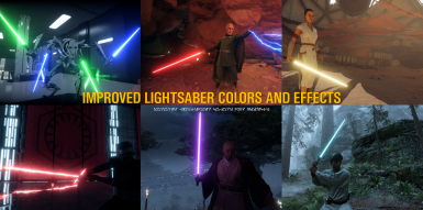 Improved lightsaber colors and effects