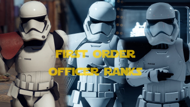 First Order Officer Class Ranks