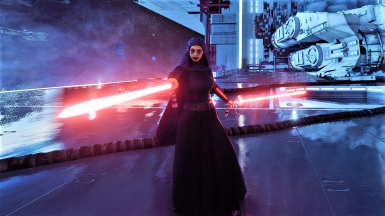 Barriss Offee Dual Red Lightsabers