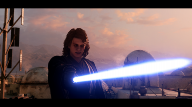 With Movie Accurate Anakin Sith eye mod