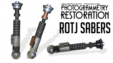 Photogrammetry Restoration - ROTJ Sabers