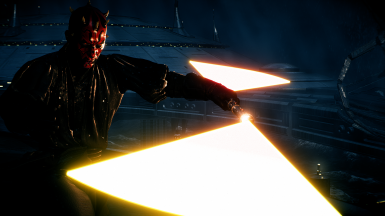 Darth Maul's Color-Changing Lightsaber