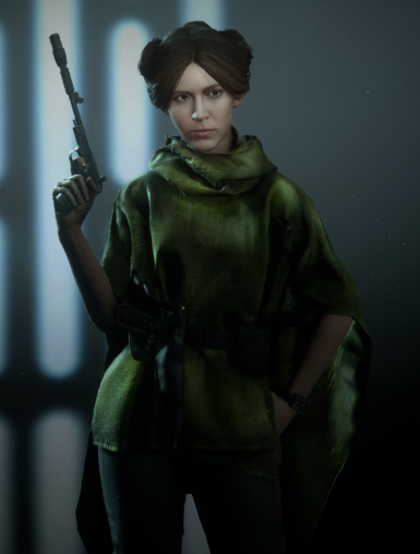 Endor Leia Without Headgear (2 Versions)