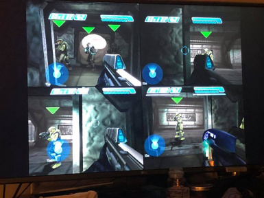 Halo 1 4 player splitscreen coop at Halo Custom Edition