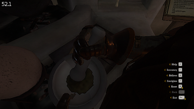 You can grind while looking elsewhere; for example, the cauldron