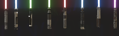 KCD lightsaber models