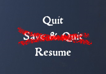 No Save and Quit Button
