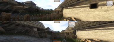 HUD before and after