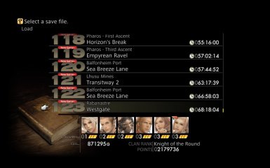 FF12 Additional Save Slots