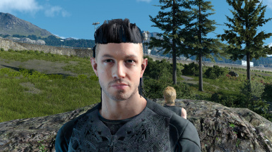 Male hair mod AO fix