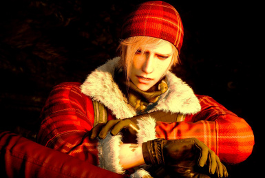 prompto red plaid winter coat