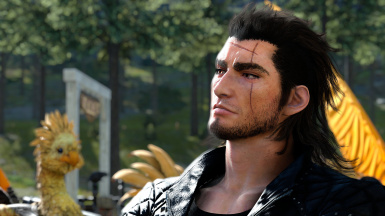 Gladio's scarred face texture oversight