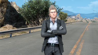 striped jacket and white shirt for Ignis(updated direct texture replacement)(requires Special K mod)