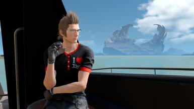 4K-I love ebony t-shirt for Ignis(requires Special K mod) at