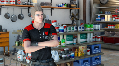 4K-I love ebony t-shirt for Ignis(requires Special K mod)