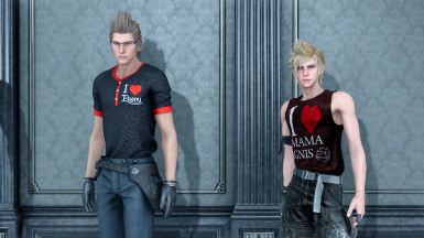 4K-I love mama ignis T-shirt for Prompto(requires Special K mod)