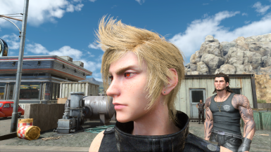 Demon eyed Prompto and other small details