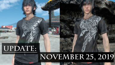 Crest of Lucis shirt - Now 3 versions - With removed Behemoth logo option