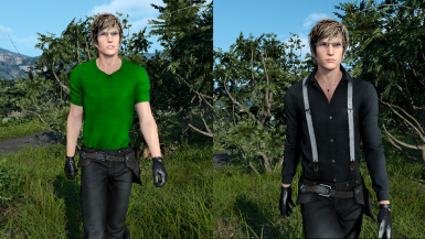 Ignis green and black casuals