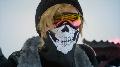 Winter skull mask