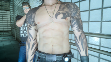 Gladio nipple piercings and happy trail