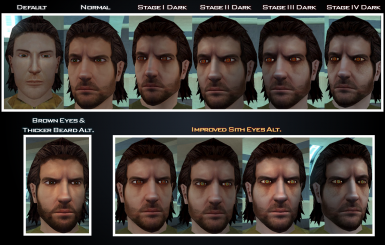 Male Head 2k Re-skin - Mullet Man