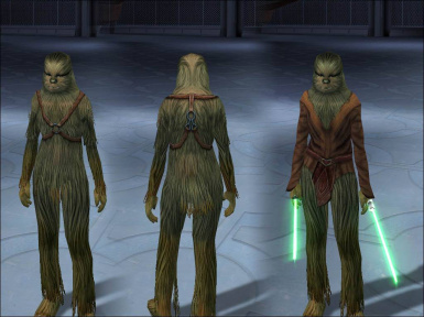 Playable Wookiees 4of4 (Blonde and Red)
