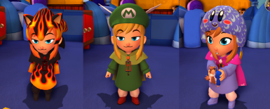 Dyeable Mario Wingcap Sonic Hat and Kirby Hat