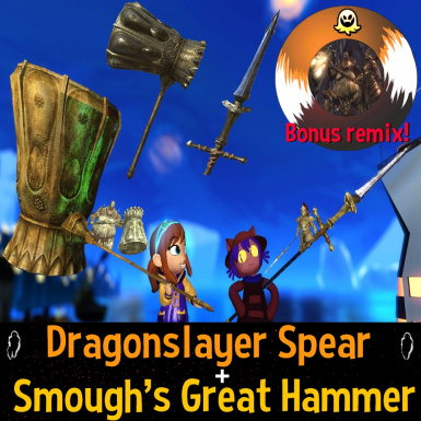Dragonslayer spear and Smough's great hammer weapon pack