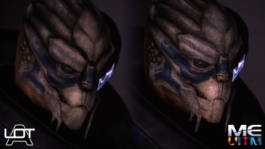Garrus comparison 2 ALOT Curation vs MEUITM installer