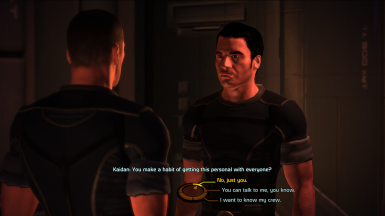 MaleShep can flirt with Kaidan