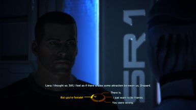 MaleShep can turn down Liara