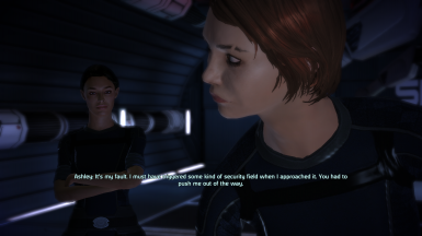FemShep and Ashley after Eden Prime