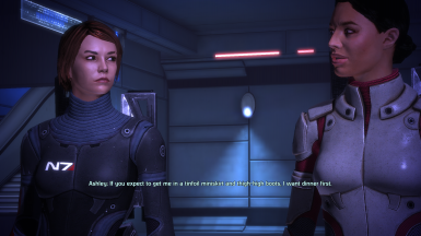 Ashley flirts with FemShep