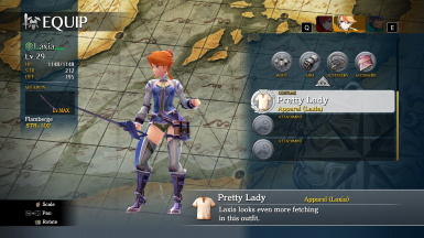Laxia Pretty Lady Costume Recolor
