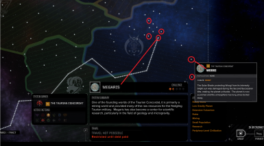6 new Taurian Systems added - with callouts on 2 of them.