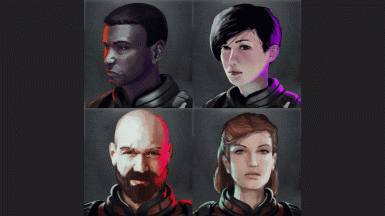 Portraits for starting ronins