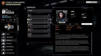 Commander Background and Quirks