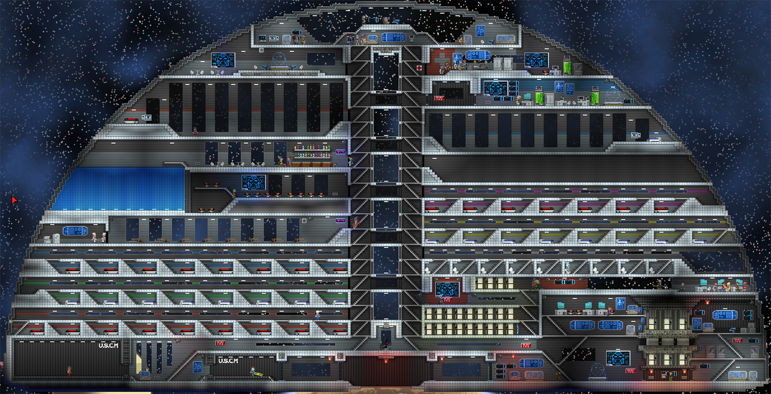 Gzm4c Domestation Custom Space Station At Starbound